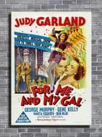 1950's Movie - FOR ME AND MY GAL - Portrait 1 canvas print - self adhesive poster - photo print